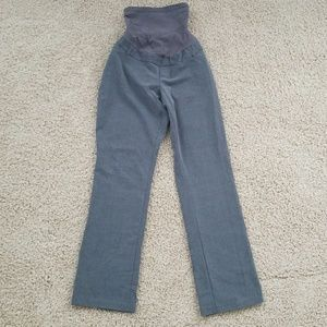 Motherhood Maternity gray dress pants full panel